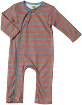 Kiwi Crossover Romper (Baby) - Red Earth/Slate Stripe-3-6 Months