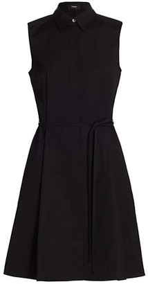 Theory Belted Sleeveless Shirtdress