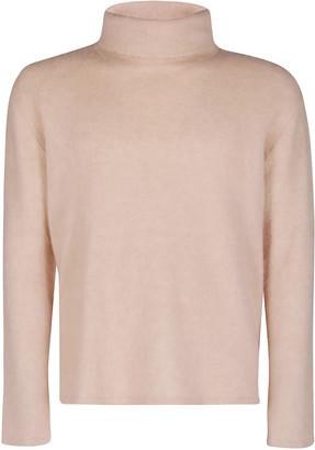 Lanvin Pale Pink Alpaca-cashmere-silk Blend Jumper