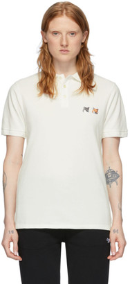 MAISON KITSUNÉ Off-White Double Fox Head Polo