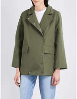 Sandro Embroidered-detail cotton coat