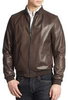Salvatore Ferragamo Reversible Leather Bomber Jacket