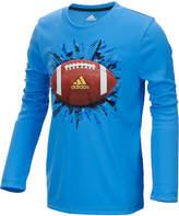 adidas ClimaLite Football Graphic-Print Shirt, Little Boys