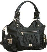 Laurel and Sunset Times Square Shoulder-to-Crossbody Utilitarian Hobo Bag
