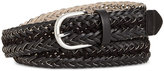 Style&Co. Style & Co Faux Suede-Inset Woven Belt, Only at Macy's