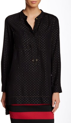 Vertigo Long Sleeve Polka Dot Blouse
