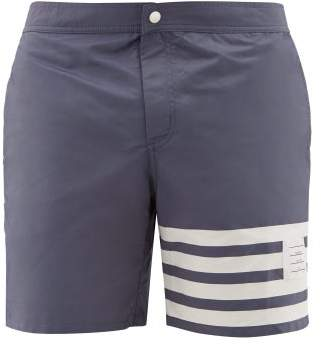 Thom Browne 4-bar Stripe Technical Swim Shorts - Mens - Navy