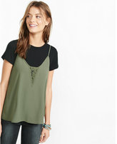 Express tee + lace trim cami