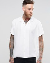 Asos Shirt With Revere Collar In Oversized Fit