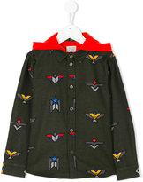 Armani Junior logo patch hooded jacket