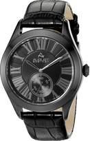 August Steiner Men's AS8203 Round Dial Two Hand Quartz Strap Watch