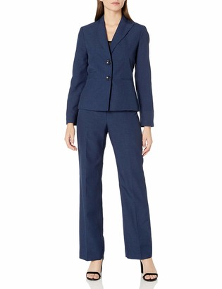 Le Suit LeSuit Women's Two Button Navy Pant Suit 4