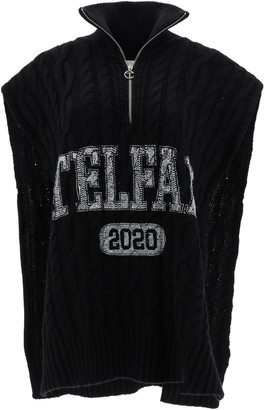 Telfar SLEEVELESS CABLE-KNIT SWEATER XS Black Wool