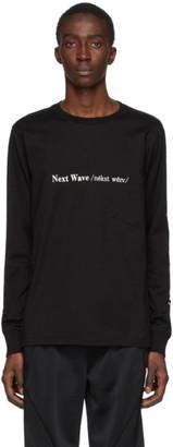 TAKAHIROMIYASHITA TheSoloist. Black Next Wave Long Sleeve T-Shirt