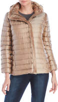 Cole Haan Faux Fur Trim Hooded Down Jacket