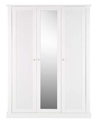 At Home Collection Tiverton 3 Door Wardrobe with Mirror