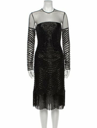 Naeem Khan 2018 Mini Dress Black