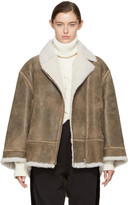 MM6 Maison Martin Margiela Brown Vintage Shearling Jacket