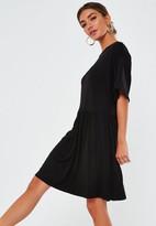 Missguided Black Jersey Smock Dress