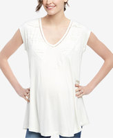 Wendy Bellissimo Maternity Lace-Trim Top