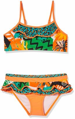 Tuc Tuc Orange Ruffles Bikini for Girl Party Animal