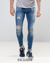 Blend of America Flurry Extreme Skinny Fit Jean Rip and Repair