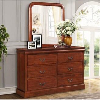 Alcott Hillâ® Rouleau 6 Drawer Double Dresser with Mirror Alcott HillA