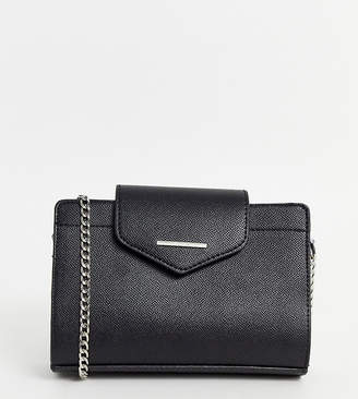 Bershka cross body bag in black