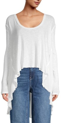 Free People High-Low Cotton-Blend Top