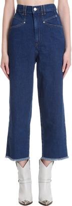 Isabel Marant Naliska Jeans In Blue Denim