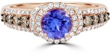 Effy Jewelry Effy Gemma 14K Rose Gold Tanzanite, Cognac and White Diamond Ring, 1.41 TCW