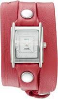 La Mer Women's 'La Mer Collections Women's Coral Silver Triple Wrap Watch' Quartz Silver-Toned Leather Casual Watch (Model: LMSTWGMA14015)