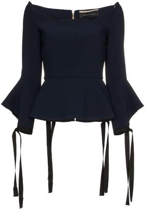 Roland Mouret Holden tie cuff long sleeve top