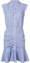 Veronica Beard striped ruched shirt dress - women - Cotton/Polyester - 2