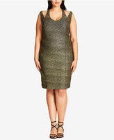 City Chic Trendy Plus Size Glitter Bodycon Dress