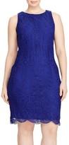 Lauren Ralph Lauren Plus Size Women's Lace Sheath Dress