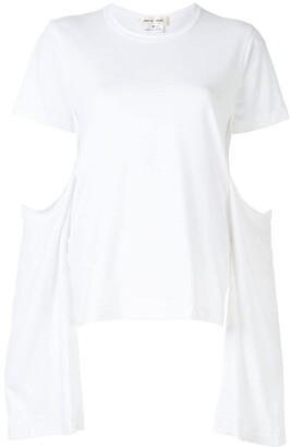 Comme des Garcons cut-out sleeve round neck T-shirt