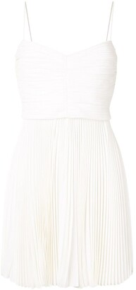 KHAITE Lou Lou silk pleated mini dress