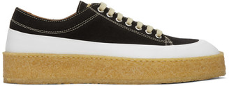 Ion Black and White Low-Top Sneakers