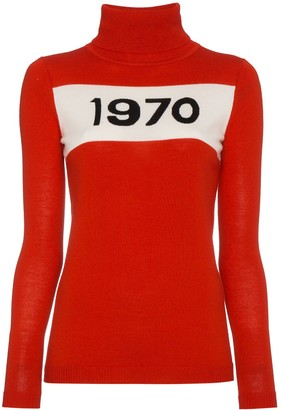 Bella Freud Wool Long Sleeve 1970 Sweater