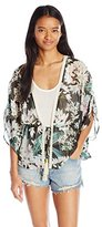 Miss Me Women's Floral Print Cardigan
