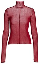 Thumbnail for your product : LaQuan Smith Sheer Silk Turtleneck Top