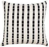 Archive New York Santiago Grid 18x18 Pillow - Black/White