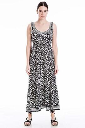 Max Studio Women's Sleeveless Floral Smock Waist Maxi Dress