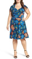 Leota Plus Size Women's Faux Wrap Jersey Dress