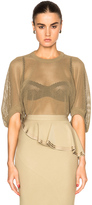 Givenchy Mesh Top in Khaki