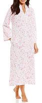 Miss Elaine Tasseled Floral Quilted Zip Robe