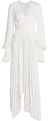 Acler Empire Knotted-Front Balloon-Sleeve Dress