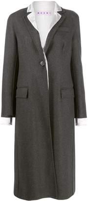 Marni contrast lapel coat