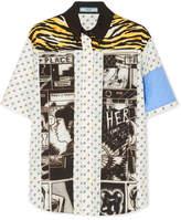 Prada Printed Cotton-poplin Shirt - Ivory